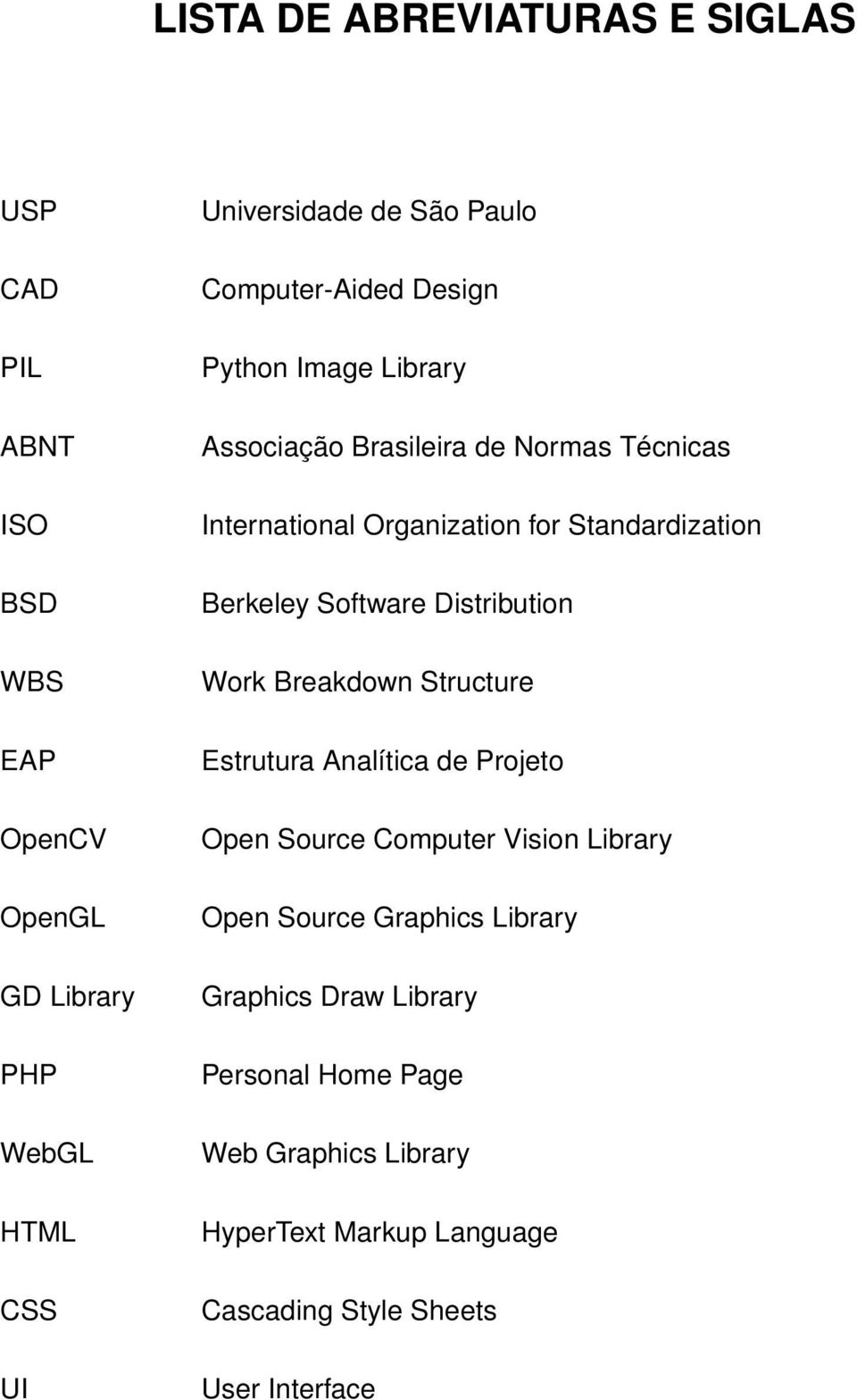 Berkeley Software Distribution Work Breakdown Structure Estrutura Analítica de Projeto Open Source Computer Vision Library Open Source