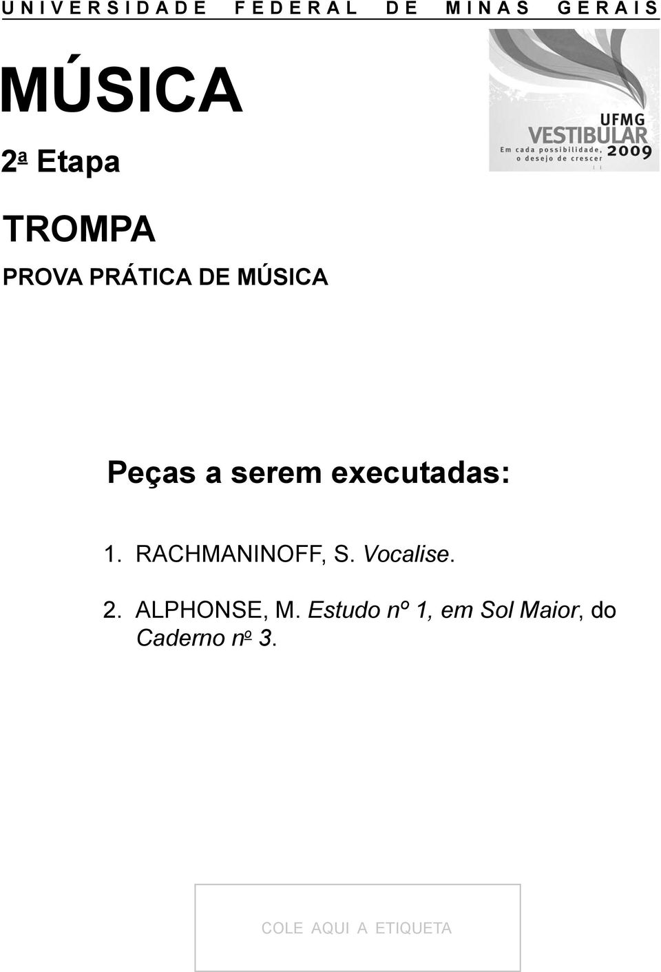 Vocalise. 2. ALPHONSE, M.