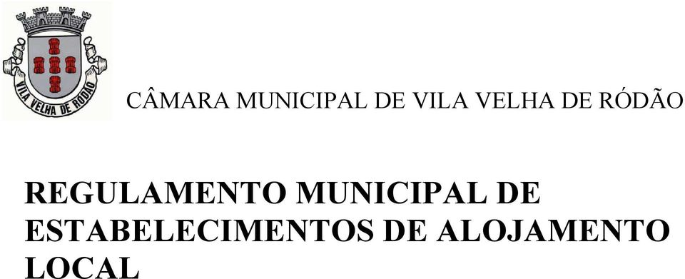 REGULAMENTO MUNICIPAL DE
