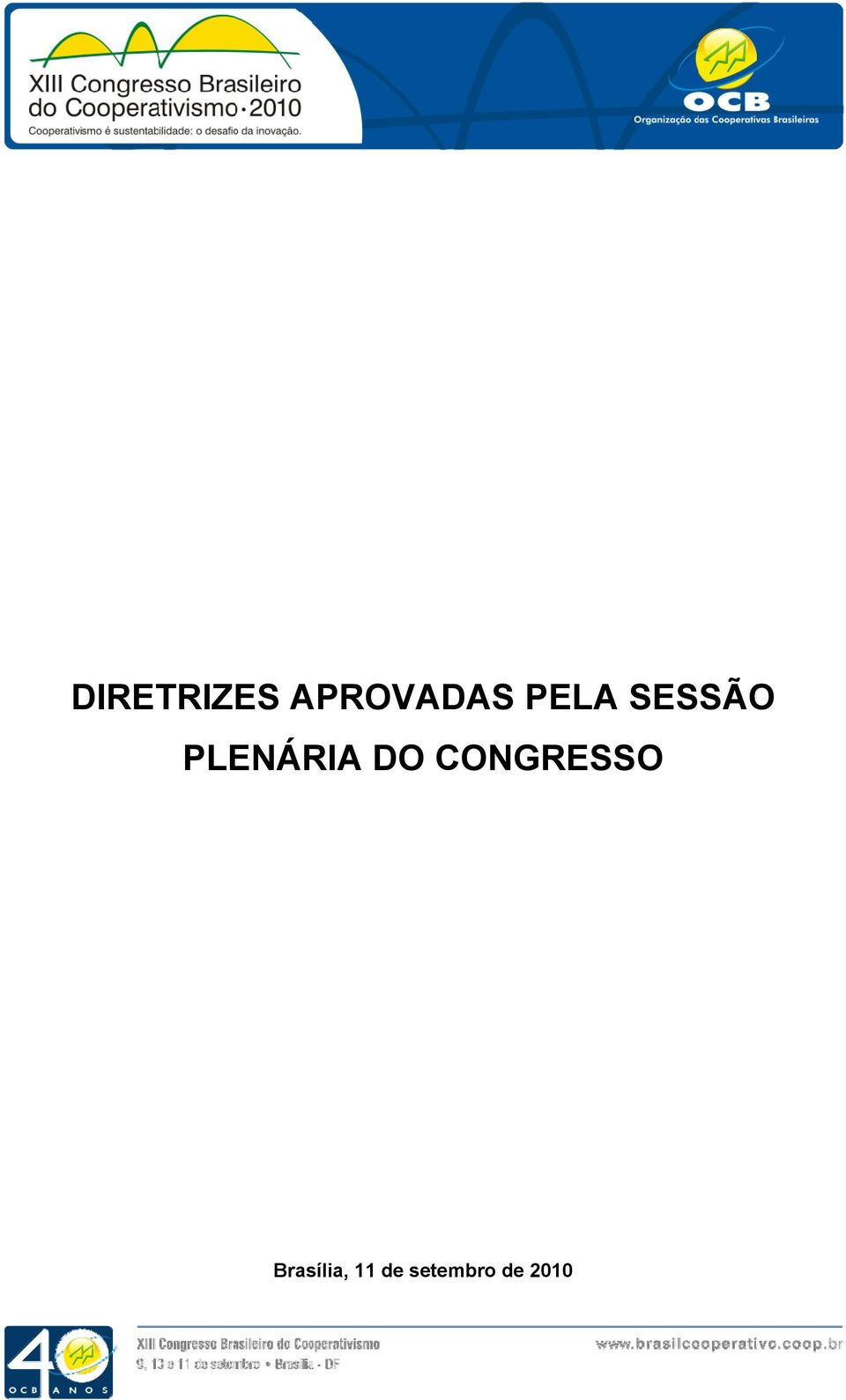 DO CONGRESSO