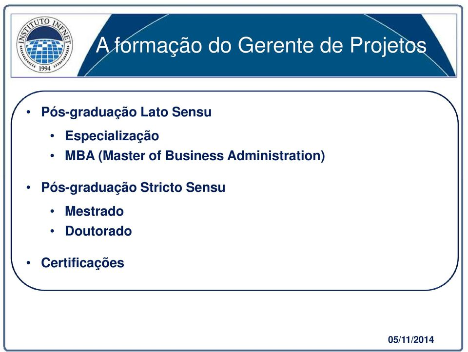 (Master of Business Administration)