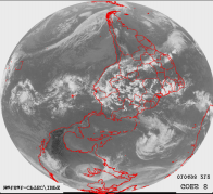 satélite NOAA-14 do estado de Roraima do dia 15/03/98 recebida no Instituto Nacional de Meteorologia.