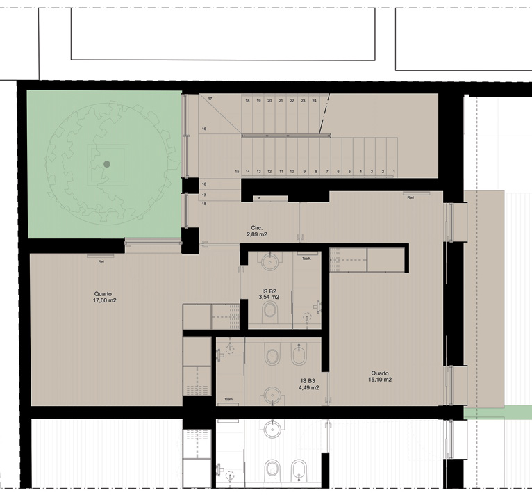 B1 ÁREAS AREAS 173 a 180 m² 173 to 180 sqm 11 a 13 m² 11 to 13