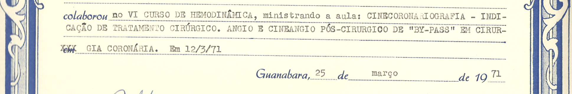 1971:Certificado Estado da Guanabara Instituto