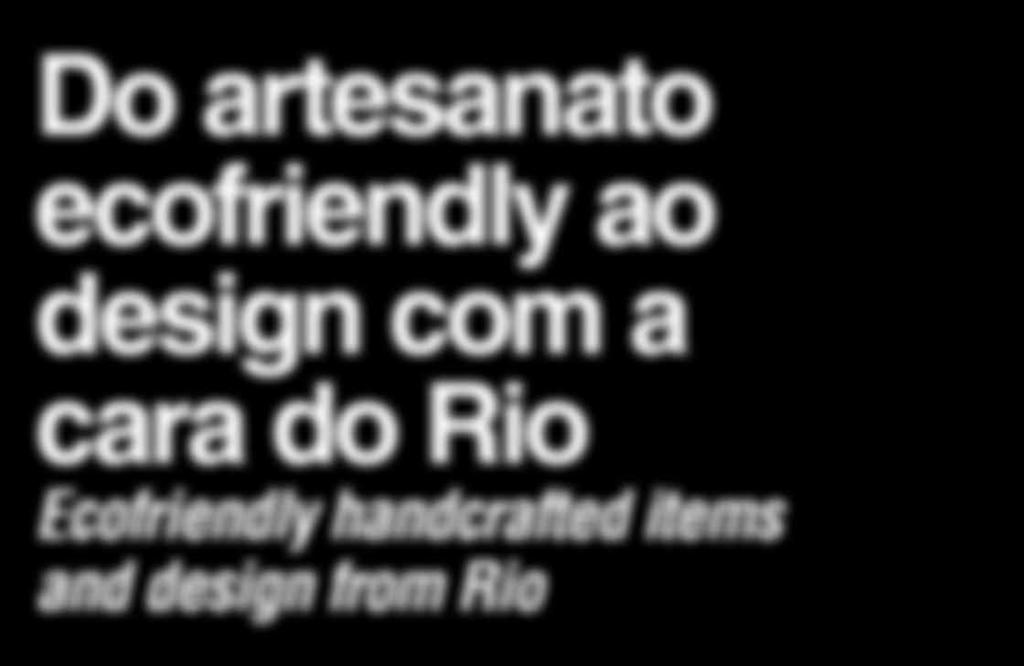 design com a cara do Rio