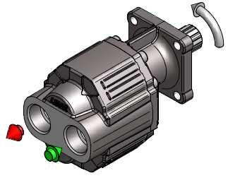 GEAR PUMPS RECOMMENDATIONS BEFORE START-UP Installation: 1- Verify the rotation way of the pump, right or left hand.