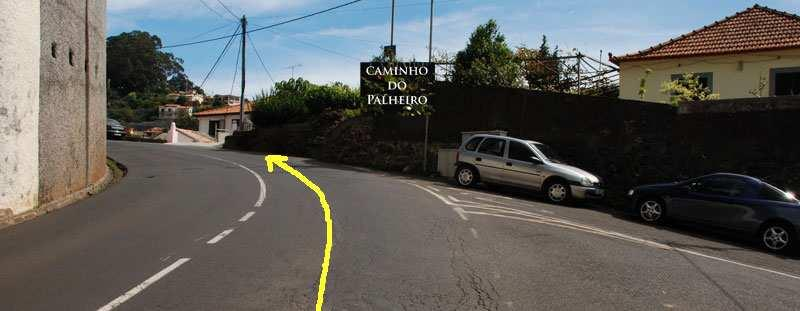 Picture #9. On ER 102 you pass the Caminho do Palheiro to the right 1.