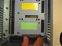 card, and that the module locks are properly inserted in the borders of the card (figure