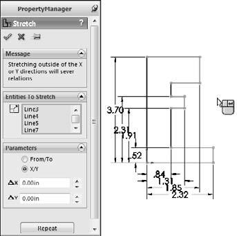 Part I: SolidWorks Basics Construction Geometry toggles between regular sketch entities and construction entities.