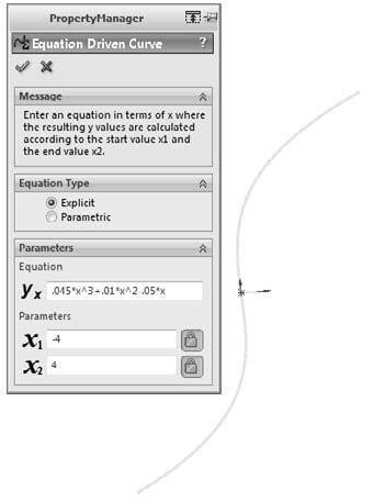 Part I: SolidWorks Basics The result is a proportional spline in a sketch, not a curve feature as the name suggests.