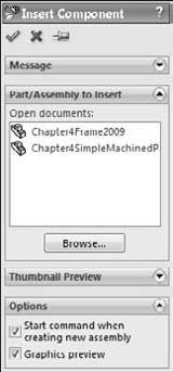 Chapter 4: Creating Simple Parts, Assemblies, and Drawings 2. Open the part that you created in the previous tutorial.