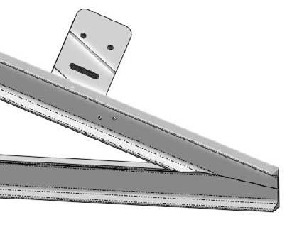 Chapter 4: Creating Simple Parts, Assemblies, and Drawings 6. Select the top angled face of the angled frame member and the corresponding flat face of the machined part. Figure 4.