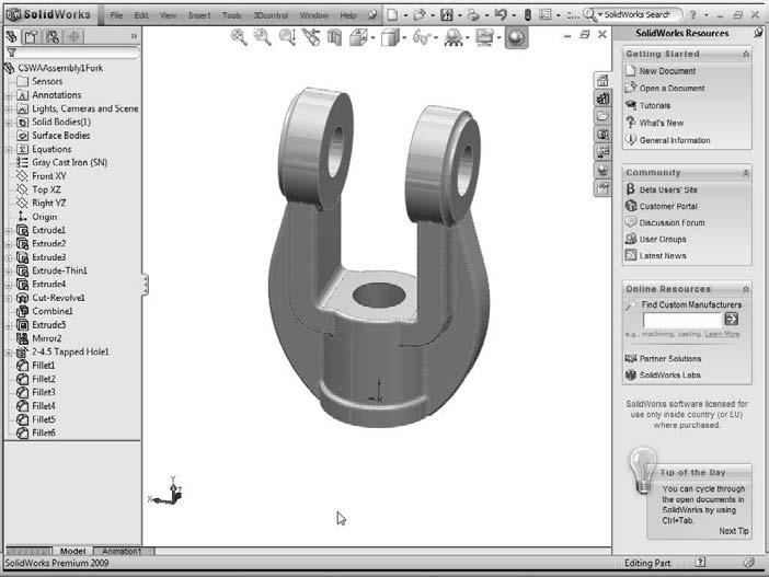 Chapter 2: Navigating the SolidWorks Interface Tip If you want to create a separate toolbar, you can commandeer an existing one for your own purposes.