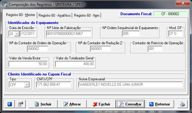 Cupom Fiscal 000002,