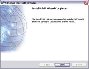 O Initial Bluetooth Configuration Wizard (Assistente de Configuração Inicial Bluetooth)