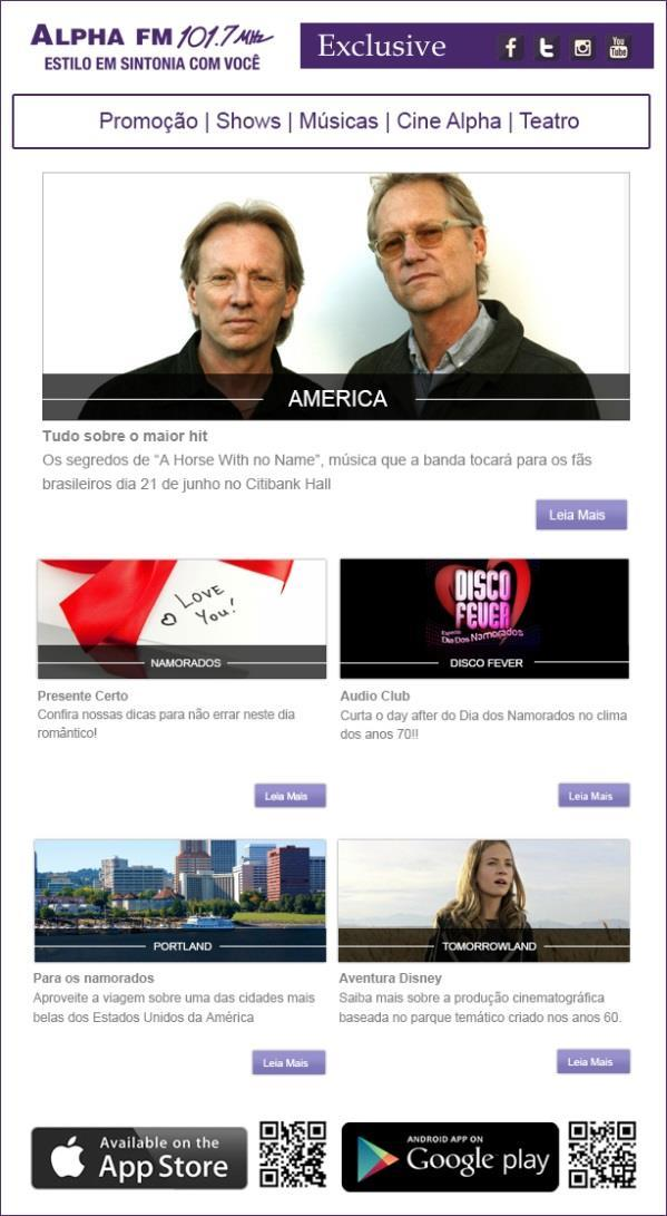 ALPHA FM ONLINE Newsletter com mais