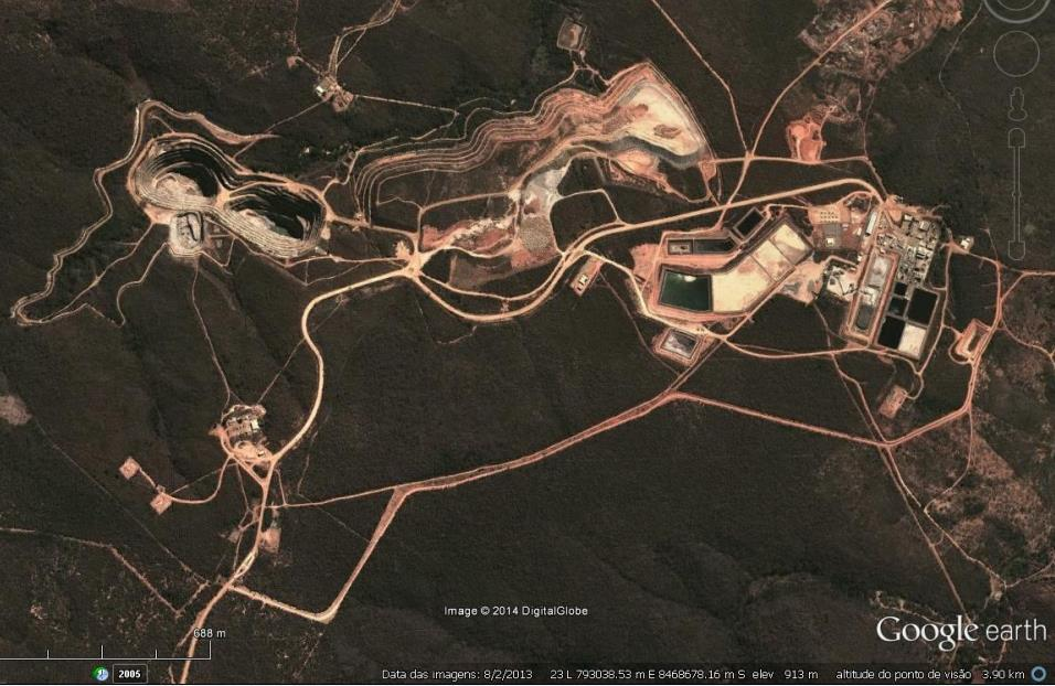 Tailings Mine Ponds Chemical Plant