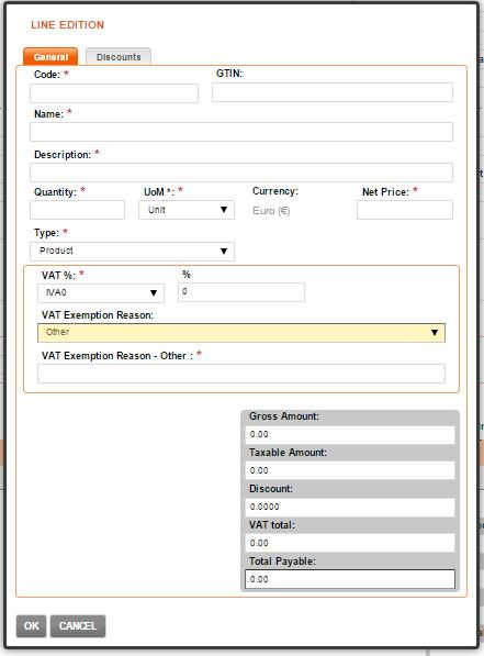 SaphetyDoc+ Customized VAT Exemption Reason Users can now customize the reason why they have VAT exemption when the line of the document doesn t have VAT.