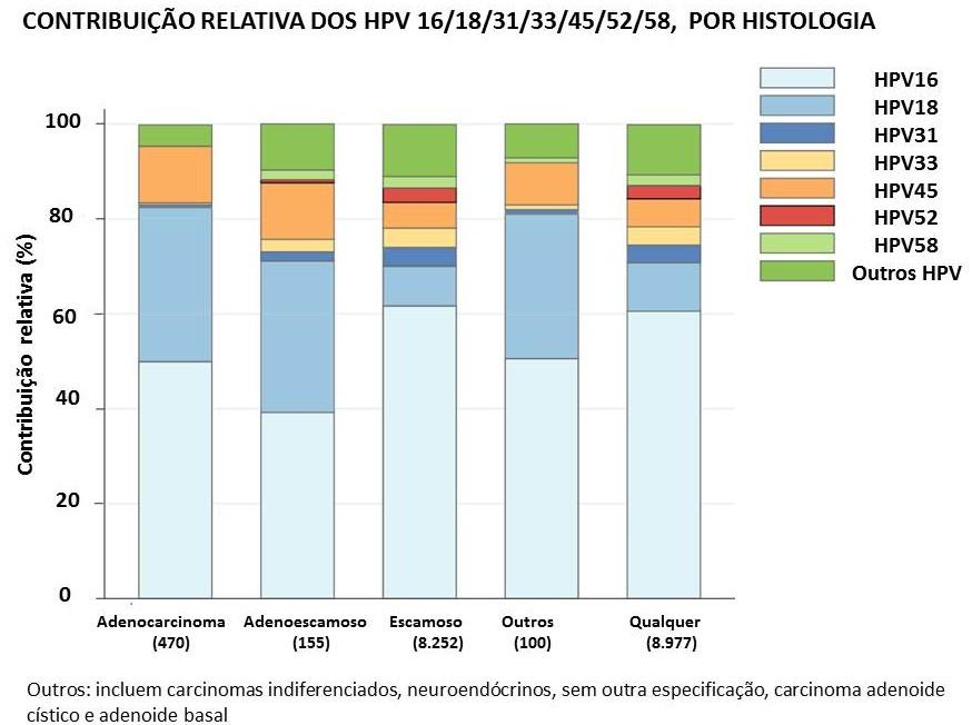 Fonte: Serrano B, et al. Potential impact of a nine-valent vaccine in human papillomavirus related cervical disease. Infect Agent Cancer. 2012 Dec 29;7(1):38. Editora Médica Responsável: Dra.