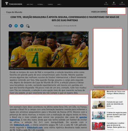 FORMATOS DE BRANDED CONTENT DESKTOP MOBILE Selo Vozes da Marca; Bio ao final do conteúdo com