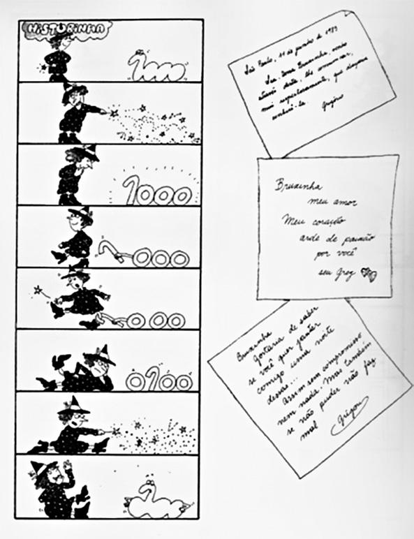 Figure 3 Messages that the character Gregory rehearses to send to the Little Witch Source: Furnari (1983). After reading these messages addressed to the Little Witch, S.