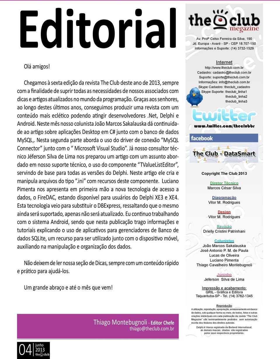 FIREDAC  Android  TValueListEditor  Editorial  Índice  Dicas