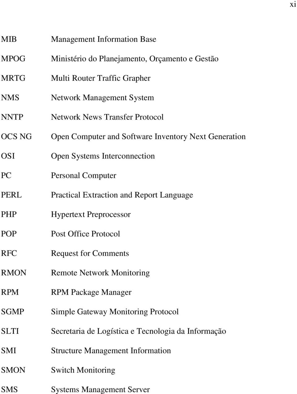 Interconnection Personal Computer Practical Extraction and Report Language Hypertext Preprocessor Post Office Protocol Request for Comments Remote Network Monitoring