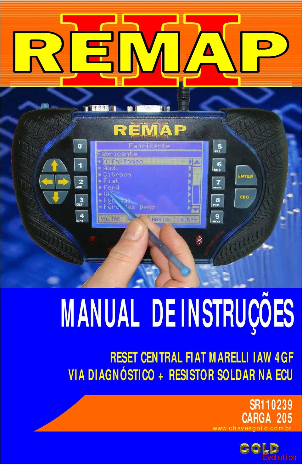 MANUAL DE INSTRUÇÕES RESET CENTRAL FIAT MARELLI IAW 4GF VIA