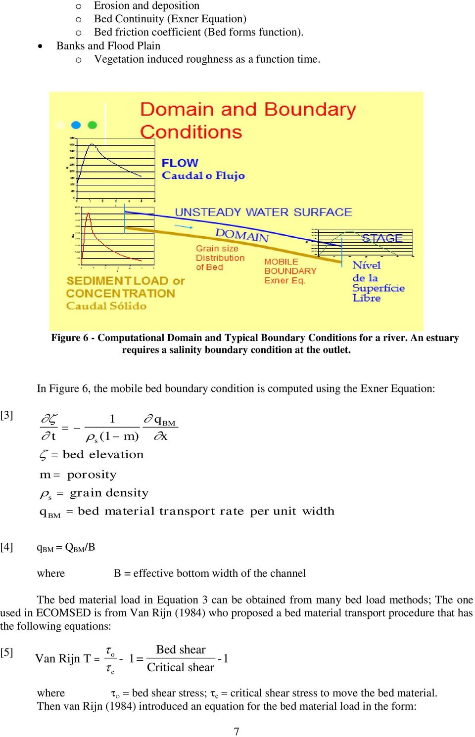 76d90cf0fafd4 In Figure 6, the mobile bed boundary condition is computed using the Exner  Equation